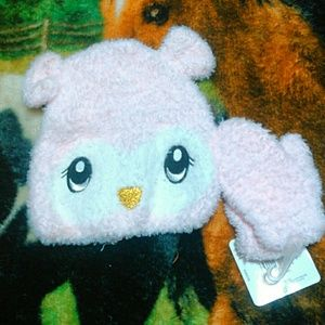Other - 6 for 20 salePink fluffy animal beanie n glove set